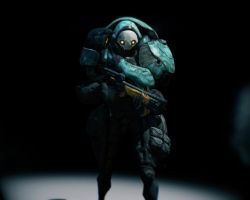 Warframe Mook:  Grineer Lancer by Lizzardtong