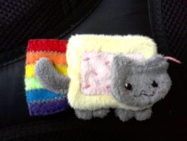 Nyan Cat Cell Phone Charm by CoffeeCupPup