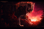 'The red sun rises' (YCH comm) by NinjaKato