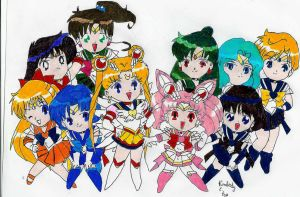 Sailor Moon Crew by karadarkthorn