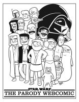 Star Wars Parody Webcomic Title by cityfolkwebcomic
