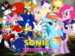 Sonic and The Mane Six by LightDegel