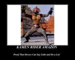 Proof of Kamen Rider Amazon by NeonGenesisGuyverIII