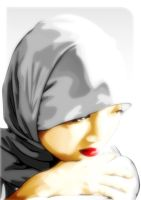 girl on a white hijab by balung