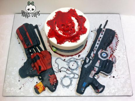 Gears of War Cake take 2 by Corpse-Queen