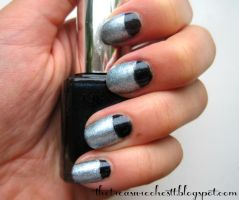 Halfmoon Metallic Nails by IoanaZ