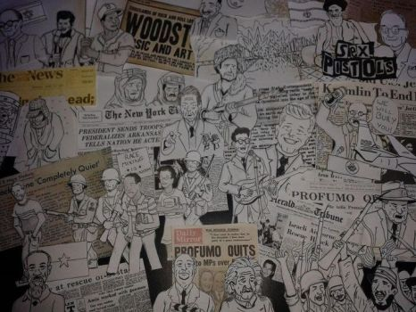 Billy Joel 'we didn't start the fire' collage -WIP by MCASEY92