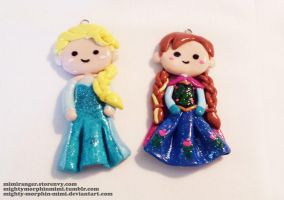 Anna and Elsa by Mighty-Morphin-Mimi