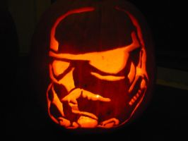 Storm Trooper Pumpkin by myaen
