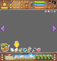 Interface for flash game 'Beloved Pets' by Pykodelbi