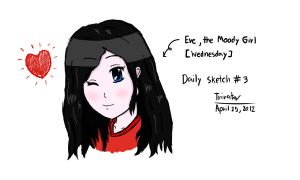 Daily Sketch #3 - Eve for Wednesday by F1rst-Pers0n