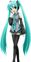 Hatsune Miku PNG by leeaudrey