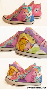 Couples in love - Adventure Time Converse by ponychops