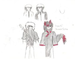 aaron  avergae look and kenshi human form by demonxslayer12