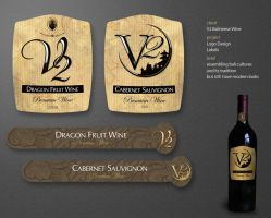 V2 Wine Labels by andinobita