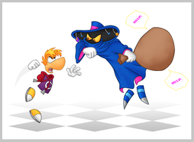 Rayman vs Mr Dark by Gothicraft