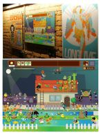 Poster punch exhibit . Plants vs zombies by mjdaluz