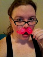 Me Pink Mustache by GingerBreadArts