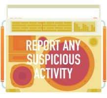 Report any suspicious activity by joc221