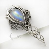 ERTINVILH Silver and Moonstone by LUNARIEEN