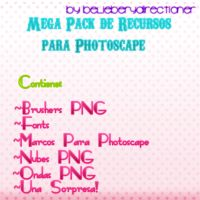 Mega Pack de Recursos Para Photoscape by BelieberYDirectioner