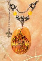 Master of fire - dragon necklace by AlviaAlcedo