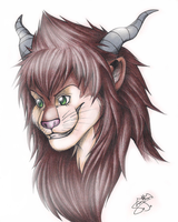 Kieran Chimera Form (Bust) by SaaraBlitz