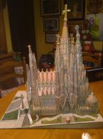 Sagrada Familia completed papercraft 03 by Cuenk89