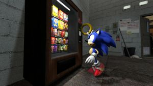 Sonic and The Vending Machine by TheRiverKruse