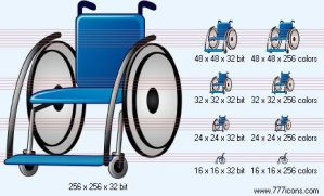 Wheelchair Icon by phorago