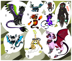 Halloween Adopts (Open/Offer to Adopt) by AmoreSyLv