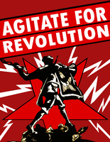 Revolutionary Agitator Poster by Party9999999
