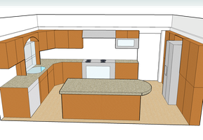 3D Remodeled Kitchen 2008 by andys184