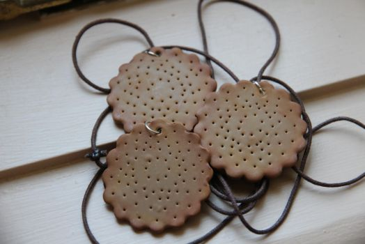 Biscuit Necklaces by tourmalinedesign