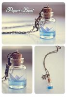 Paper Boat bottle Necklace by Bea-Gonzalez