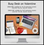 Valentine Wallpaper - Busy Desk on Valentine's Day by Techievous