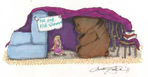 Bear and Girl fort by atnason