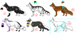 Point Adoptables Batch Two [OPEN, 3/6 Left] by KatyeKitty