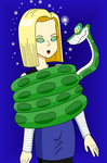 Android 18 X Kaa by MegatronMan
