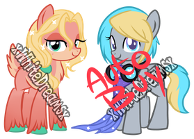 two ponies AUCTION - CLOSED by xWhiteDreamsx