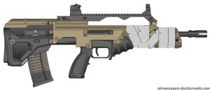 bullpup assault rifle by TooawesomeANKER