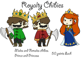 Royal Chibie Commision by TheLittlehoneybee