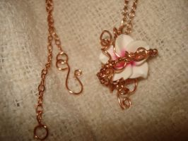 Plumeria Flower Pendant With Chain by Toowired