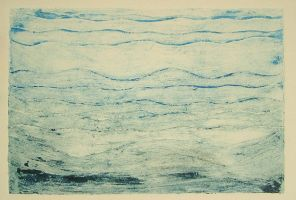 untitled collagraph-water 2of3 by celacia