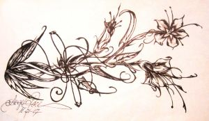 abstract flower design by angel-pace