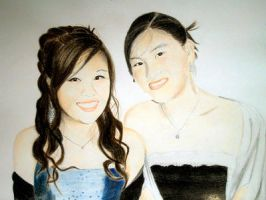 Michelle and Karen Prom by wanderingaimlessly
