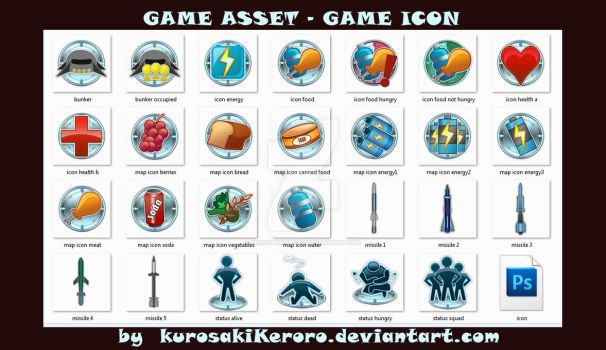 Game asset : adventure icon by KurosakiKeroro