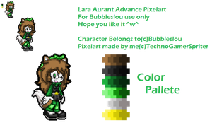 .:Gift:. Lara Aurant Advance PixelArt by TechnoGamerSpriter