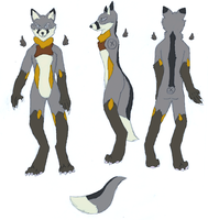 Luce - Anthro Ref by Luce-foxeh