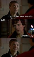 Bit of Johnlock by DanglingThpider